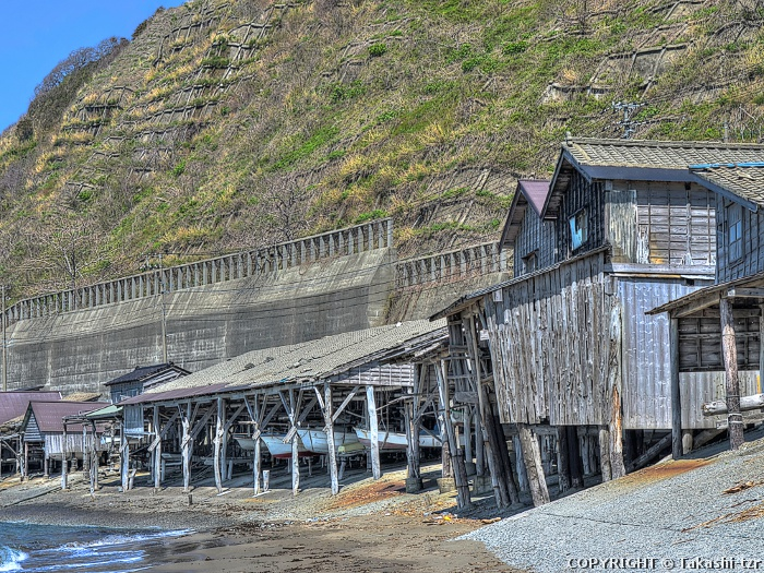 筒石の漁村景観