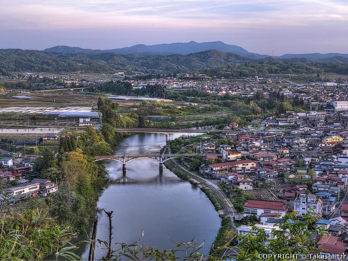 最上川の流通・往来及び左沢町場の景観1