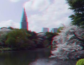 アナグリフ池と桜 2