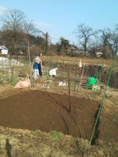 耕し作業終了
