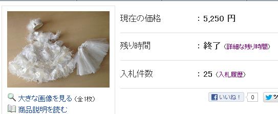 白い羽ドレス落札