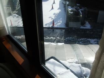 2011.02.15朝の雪景色 IN東京 晴れて雪がどんどん溶けています!