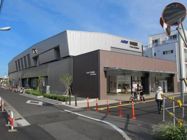 完成した布田駅の駅舎