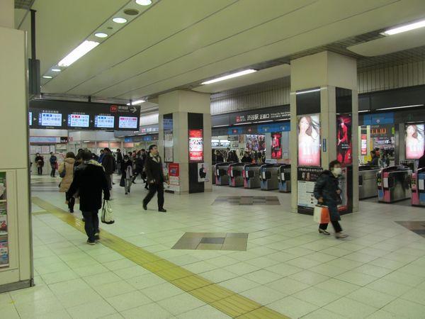 廃止まで残り2ヶ月を切った地上の東横線渋谷駅改札口。