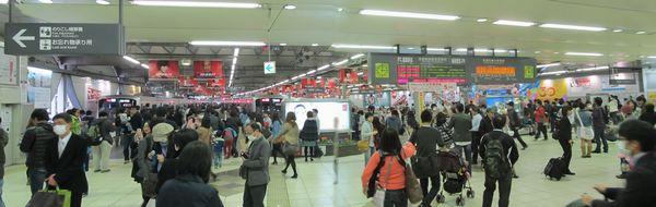 1927年の東京横浜電鉄渋谷~丸子多摩川(現・多摩川)開業以来85年間使用された東横線渋谷駅地上ホーム。現在はすべて解体され、再開発が進められている。