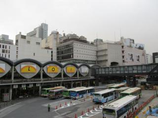 東口ロータリーから見た渋谷駅