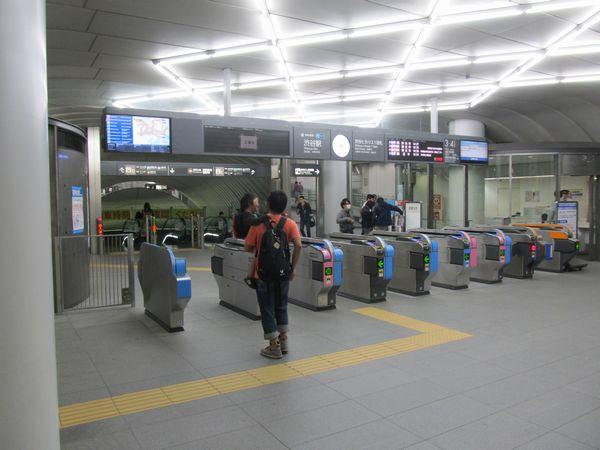 自動改札機の増設が完了した渋谷ヒカリエ1改札口