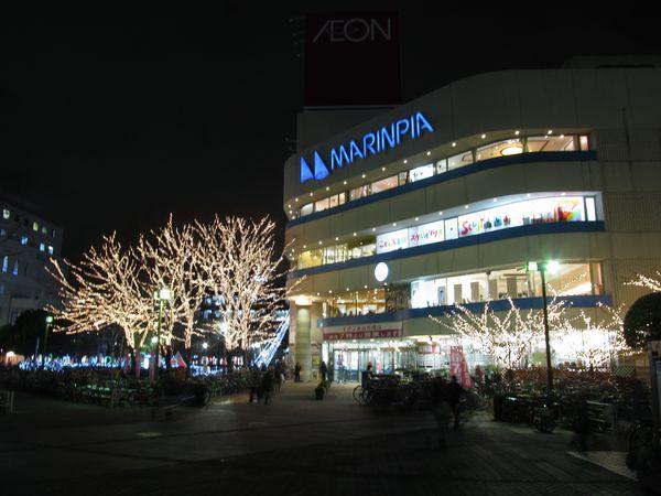 稲毛海岸駅前のイオンのショッピングモールj「マリンピア」。