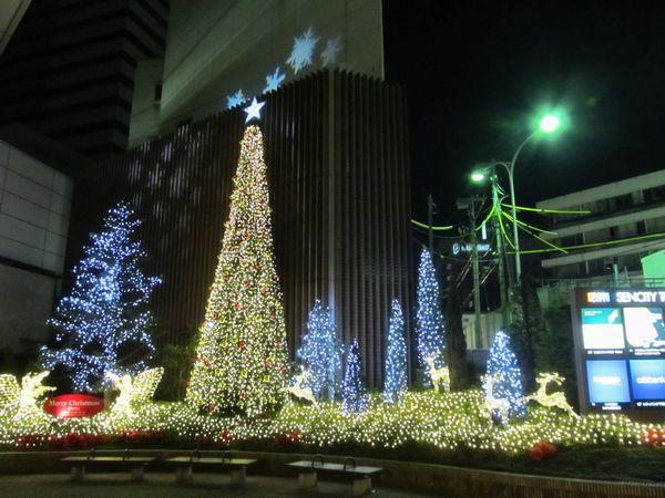 そごう千葉店(京成千葉駅)入口のイルミネーション