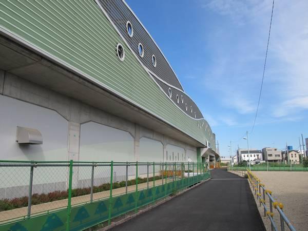 南口の駅前は区画整理が進行中で道路は暫定形となっている。