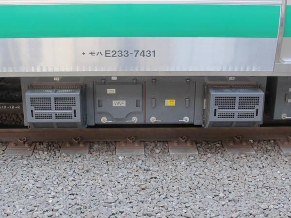 VVVFインバータはE233系通勤車仕様標準のSC85A形