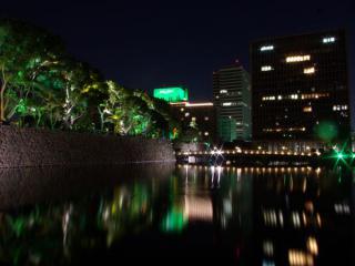 2008年に開催された「光都東京・LIGHTOPIA」の模様。皇居前にある和田倉噴水広場を中心にライトアップやキャンドルなどの装飾がなされた。