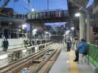 代官山駅ホーム中央付近(切替後)