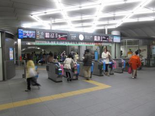 既存の渋谷ヒカリエ1改札口。平日朝ラッシュ時は出口専用になる。