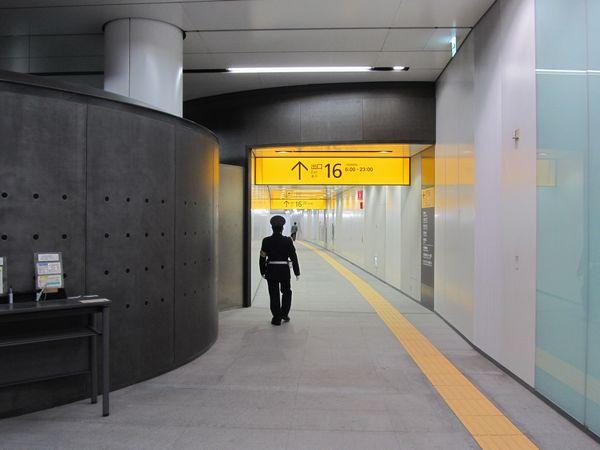3月16日より使用開始となった16番出入口