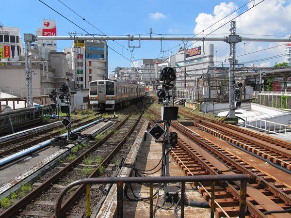 上野駅から東京方面に続く留置線。