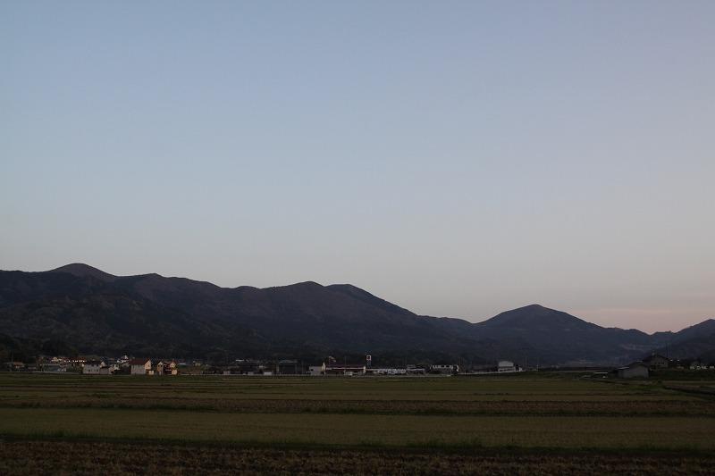 与謝野町からの大江山夕景