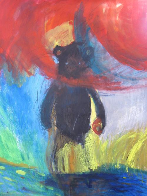 川に来た熊