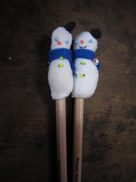 鉛筆雪だるま1
