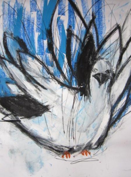 空を抱えた鳥