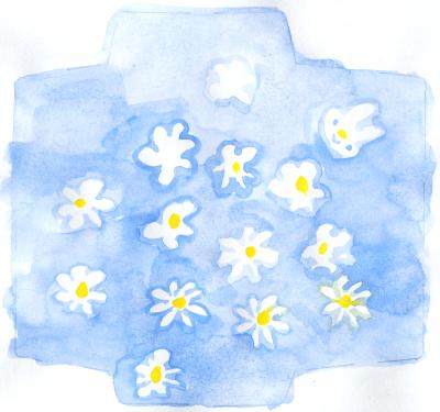 ぽち 青い花