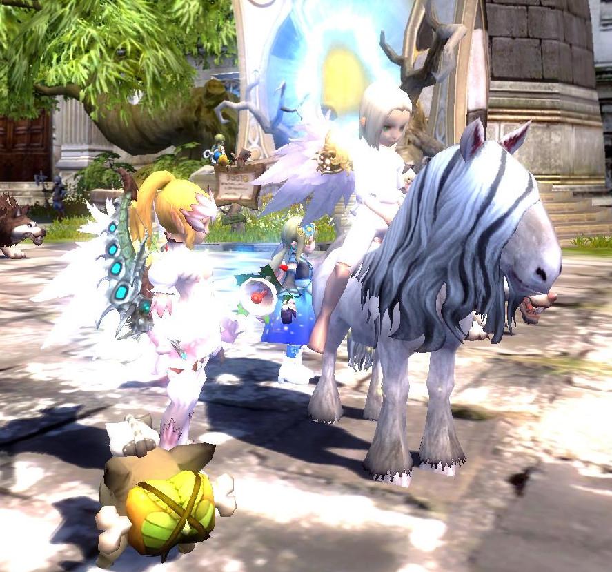 白馬の天使様