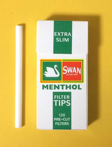 SWAN_FILTER_TIPS_EXTRA_SLIM_MENTHOL SWAN スワン スワン・フィルターチップ・エクストラスリム メンソール フィルター RYO