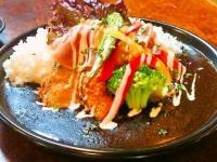 「にいがた夏野菜カレープロジェクト」の為に、オーシャンテラス新産店が作った『長岡旬菜黒カレー』です!