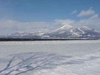 一月の磐梯山