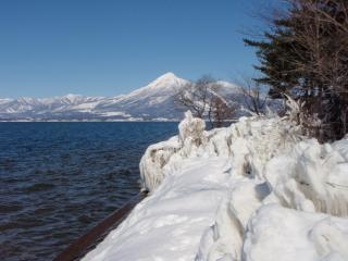 2月の磐梯山