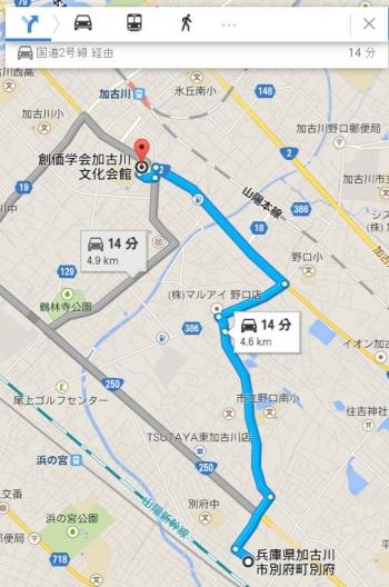 map兵庫県加古川市別府町別府車で十数分