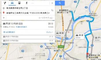 map新潟県燕市新生町2丁目車で十数分
