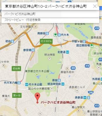 map東京都渋谷区神山町10ー2