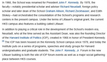 wikiJohn F. Kennedy School of Government