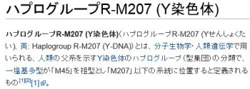 wikiハプログループR-M207 (Y染色体)