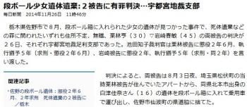 news段ボール少女遺体遺棄:2被告に有罪判決 宇都宮地裁支部