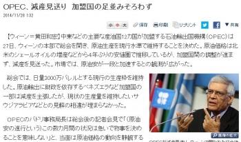 newsOPEC、減産見送り 加盟国の足並みそろわず
