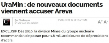 newsUraMin de nouveaux documents viennent accuser Areva