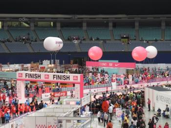 名古屋マラソンゴール地点