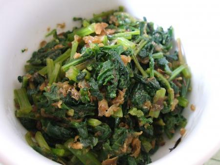ラディッシュの葉の炒め物