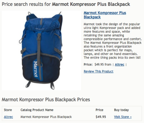 Marmot Kompressor Plus Blackpack