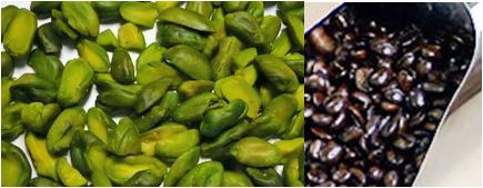 ピスタチオとフレンチロースト豆