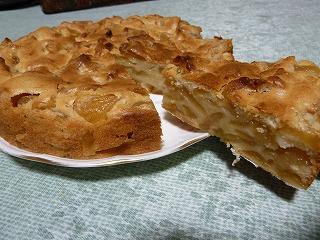 煮りんごのケーキ2