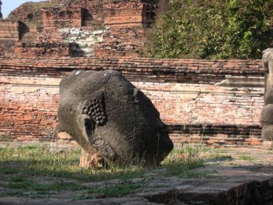 アユタヤ遺跡の仏頭