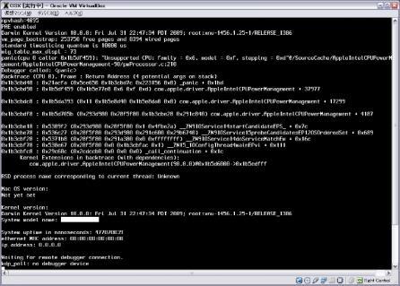 Mac似PCでのkernel Panic