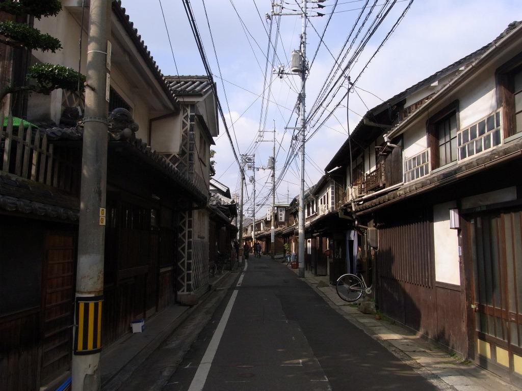 古い町並み。