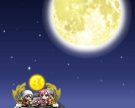 お月見デートw
