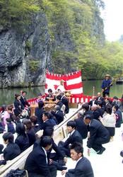 結構大きい舟上の結婚式