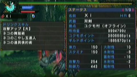 双雷×双剣(8分47秒)ステータス