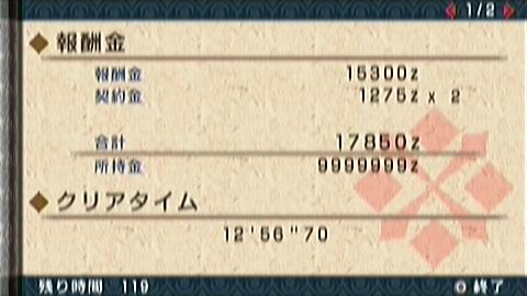 双尾槌×双剣(12分57秒)正式タイム